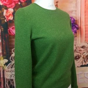 Exquisite Cashmere J.Crew Emerald Green Sweater S